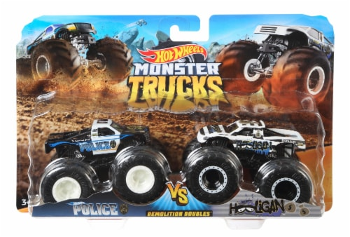 Mattel Hot Wheels® Monster Trucks Demolition Doubles Racing vs Baja Buster Vehicle - Assorted Perspective: back