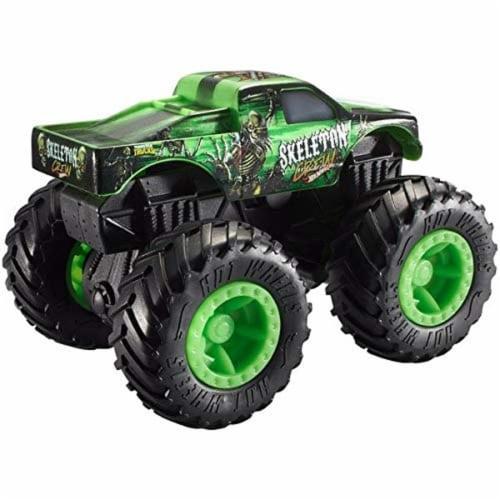 Hot Wheels Monster Trucks - Rev Tredz Skeleton Crew Vehicle Perspective: back