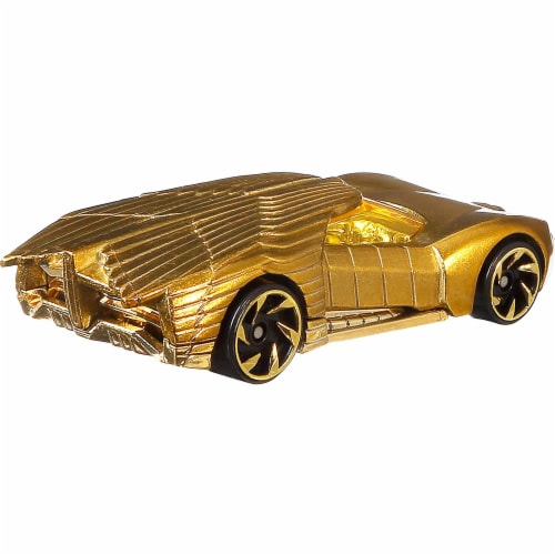 Mattel Hot Wheels DC Universe Golden Armor Character Car Perspective: back