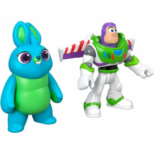 Imaginext® Disney Pixar Toy Story 4 Bunny and Buzz Lightyear Figures Perspective: back