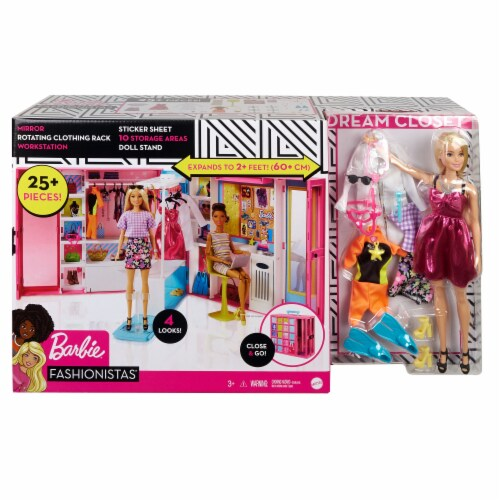 Mattel Barbie Dream Closet Playset Perspective: back