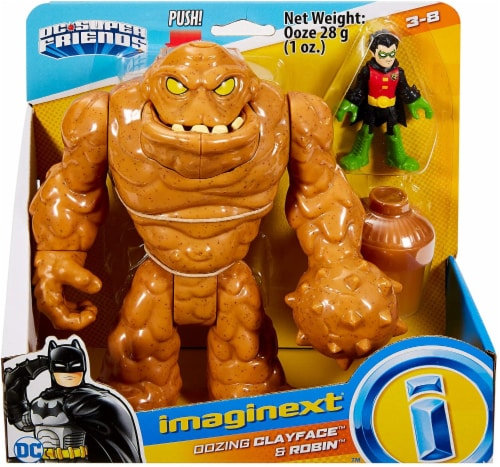 Imaginext Fisher-Price DC Super Friends - Oozing Clayface & Robin Perspective: back