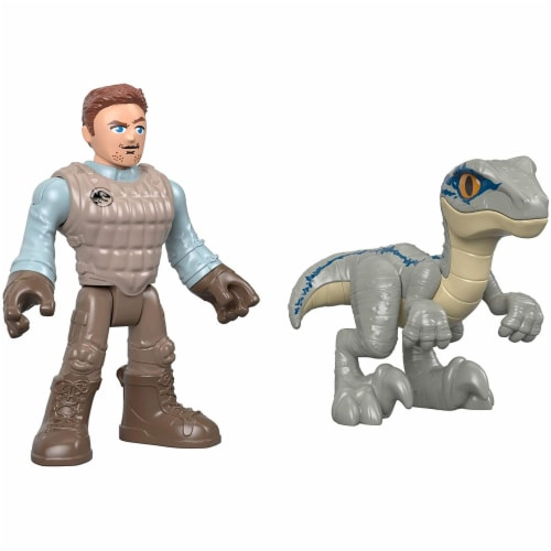 Fisher-Price® Imaginext® Jurassic World Owen & Blue the Velociraptor Action Figure Set Perspective: back
