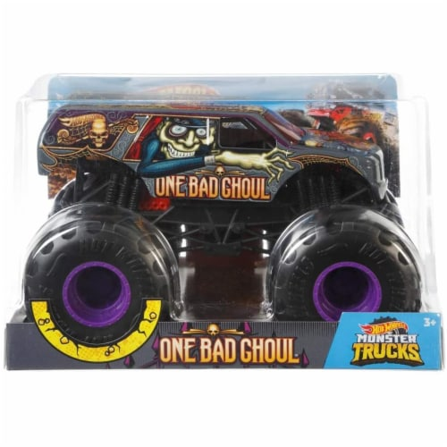 Mattel Hot Wheels® Monster Trucks One Bad Ghoul Vehicle Perspective: back