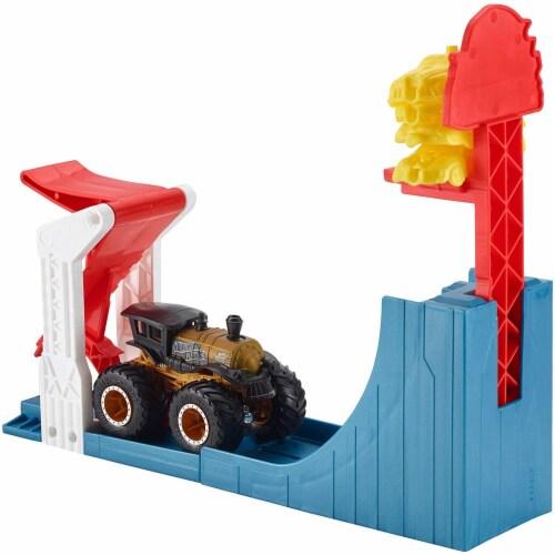 Mattel Hot Wheels® Monster Trucks Big Air Breakout Playset Perspective: back
