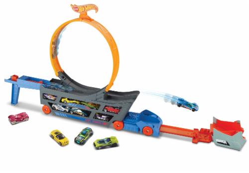 Mattel Hot Wheels® Stunt & Go Mobile Track Set Perspective: back