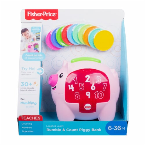 Fisher-Price® Laugh & Learn Rumble and Count Piggy Bank Perspective: back