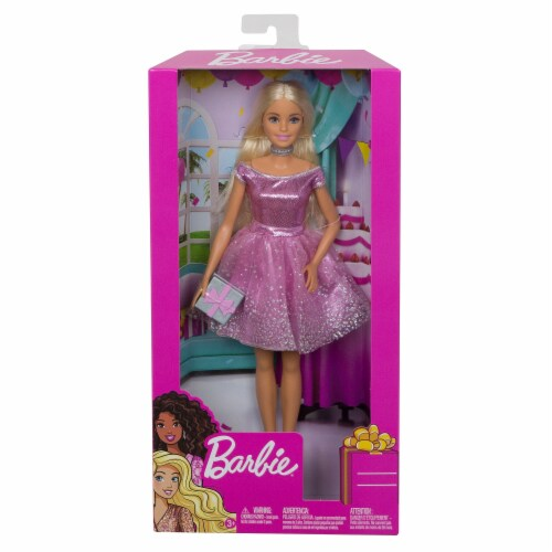Mattel Barbie® Happy Birthday Doll Perspective: back