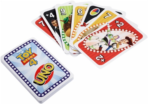 Disney PIXAR Toy Story 4 UNO Card Game Perspective: back