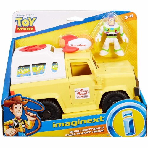 Fisher-Price Disney/Pixar Toy Story 4 Pizza Planet Truck Perspective: back