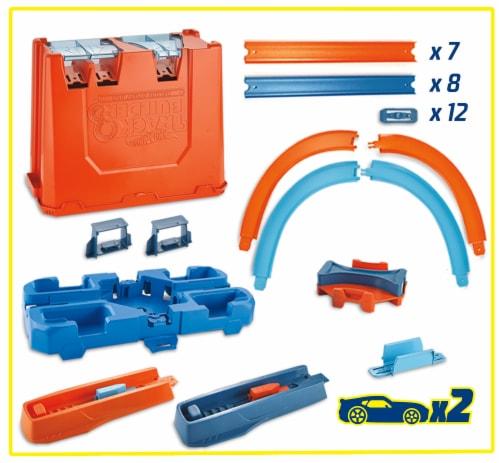 Mattel Hot Wheels® Track Builder Deluxe Stunt Box Track Set Perspective: back