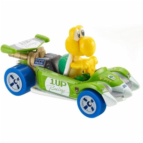 Mattel Hot Wheels® Mario Kart Yellow Koopa Troopa Circuit Special Toy Car Perspective: back