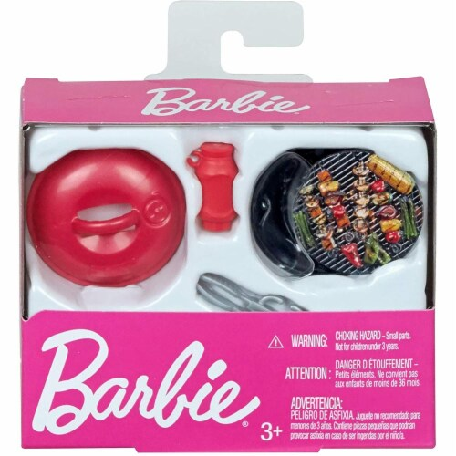 Barbie Accessory Pack, 4 Pieces, with Barbecue Accessories, GHL83 Perspective: back