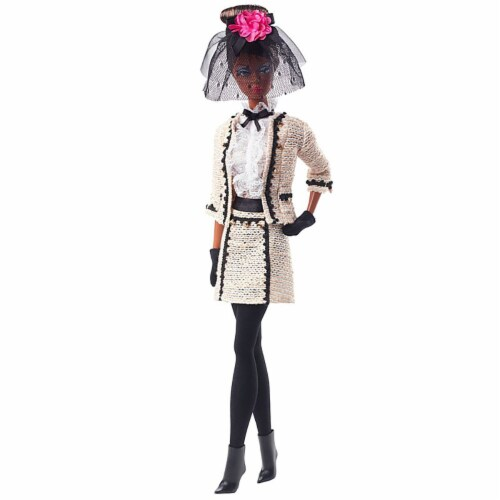 Barbie Fashion Model Collection Best To A Tea Doll with Boucle Suit Ensemble Perspective: back