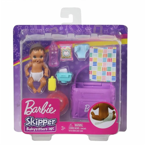 Barbie Skipper Babysitters Inc. Feeding and Changing Playset with Color-Change Baby Doll Perspective: back