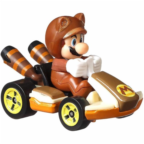 Mattel Hot Wheels® Mario Kart Tanooki Mario Standard Kart Toy Car Perspective: back