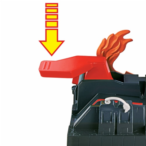 Mattel Hot Wheels® City Super Fire House Rescue Play Set Perspective: back