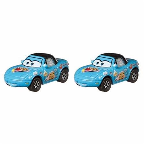 Disney and Pixar Cars Dinoco Mia & Dinoco Tia Toy Racers Perspective: back