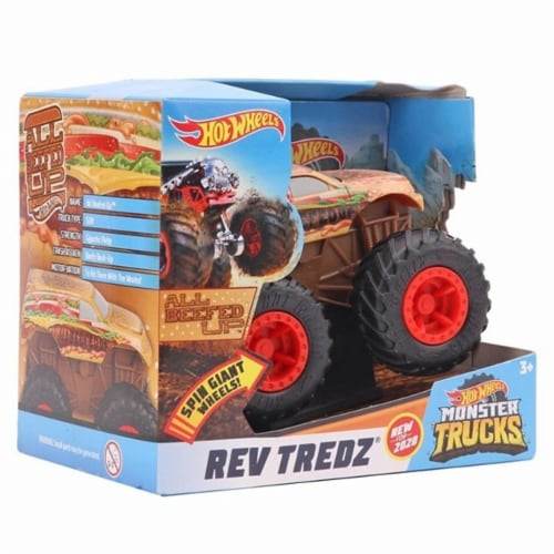 Hot Wheels Monster Trucks Rev Tredz All Beefed Up Vehicle Perspective: back