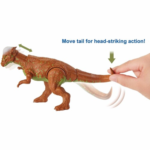 Jurassic World Savage Strike Pachycephalosaurus Figure Perspective: back