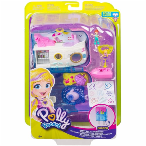 Polly Pocket Pocket World Sweet Sails Cruise Ship Compact Set Perspective: back