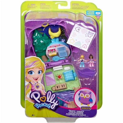 Polly Pocket Pocket World Owlnite Campsite Compact Play Set Perspective: back