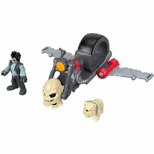 Fisher-Price Imaginext DC Super Friends Lobo & Motorcycle Perspective: back
