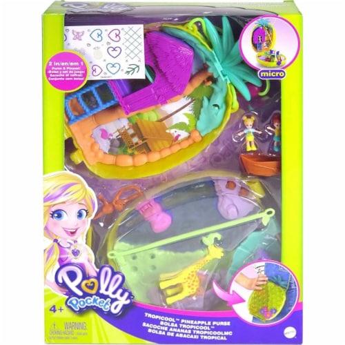Mattel Polly Pocket Tropicool Pineapple Purse Perspective: back