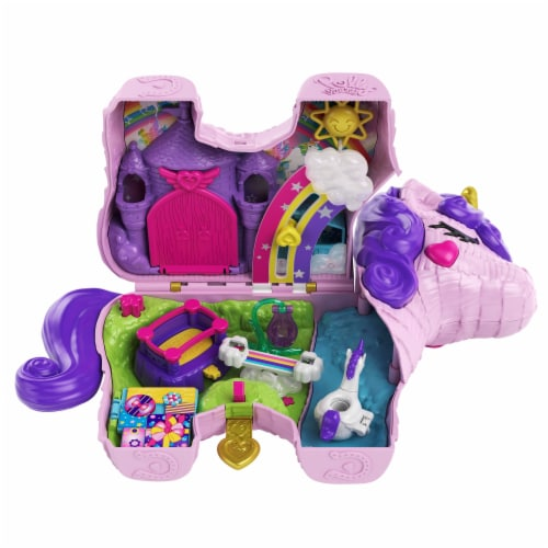 Mattel Polly Pocket Unicorn Party Playset Perspective: back
