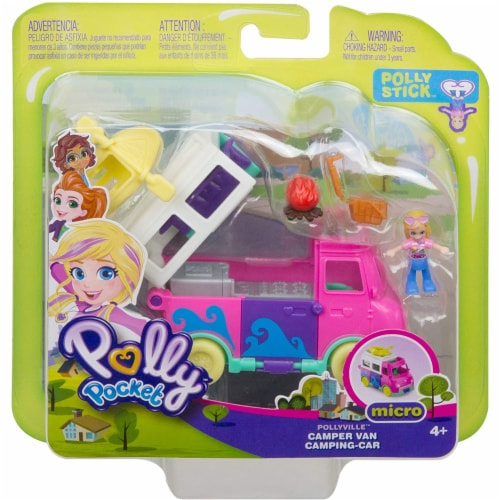 Pollyville Transforming Camper Van Playset Perspective: back