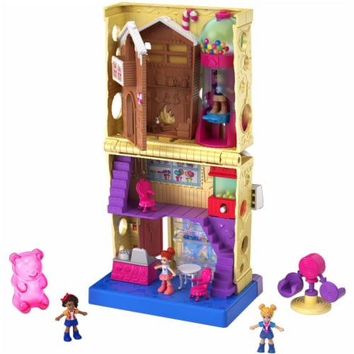Pollyville Candy Store with 4 Floors, 2 Dolls and 5 Accessories Perspective: back