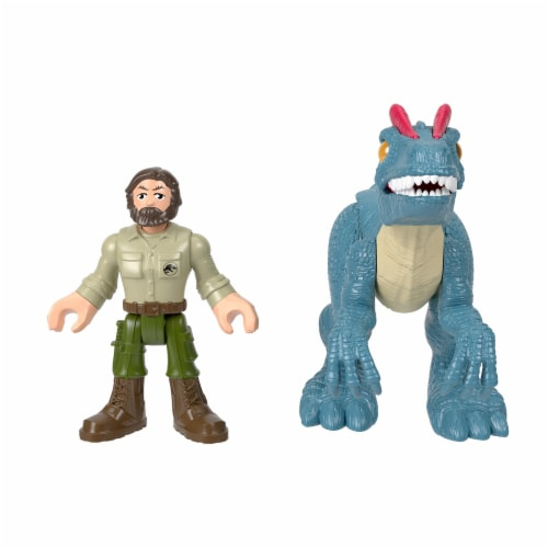 Fisher-Price® Imaginext Jurassic World Allosaurus Dinosaur & Ranger Action Figures Perspective: back