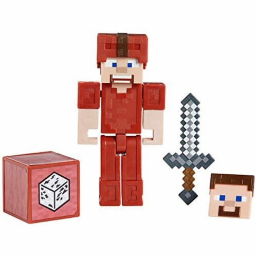 Minecraft Earth Steve in Red Leather Figure Perspective: back