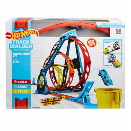 Mattel Hot Wheels® Track Builder Unlimited Triple Loop Kit Perspective: back
