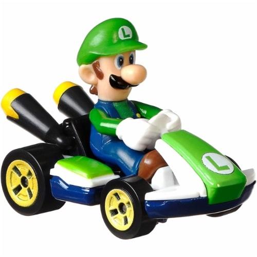 Mattel Hot Wheels® Mario Kart Luigi Standard Kart Toy Car Perspective: back
