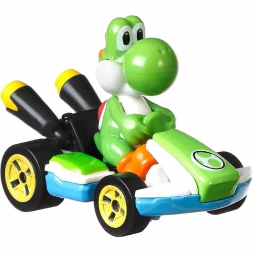 Mattel Hot Wheels® Mario Kart Yoshi Standard Kart Toy Car Perspective: back