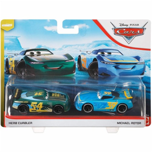 Disney Pixar Cars Herb Curbler & Michael Rotor Toy Racers Perspective: back
