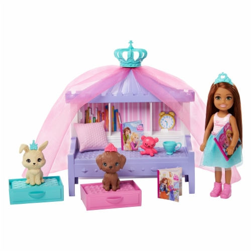 Mattel Barbie Princess Adventure Doll Playset Perspective: back