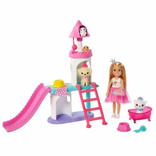 Mattel Barbie Princess Adventure Doll Playset Perspective: back