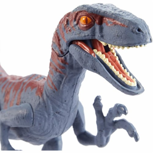 Jurassic World Attack Pack Velociraptor Figure Perspective: back