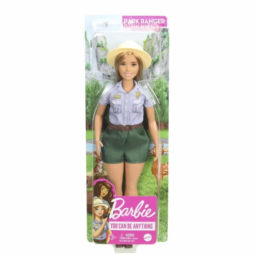 Barbie Blonde Curvy Park Ranger Doll with Ranger Outfit Perspective: back