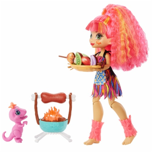 Mattel Cave Club Wild About BBQs Emberly Doll and Playset Perspective: back