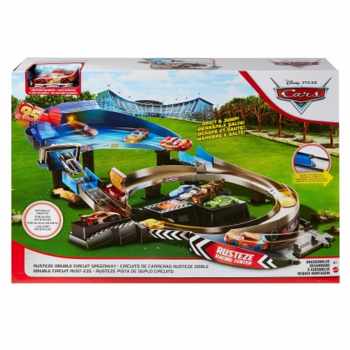 Mattel Disney Pixar Cars Rusteze Double Circuit Speedway Perspective: back