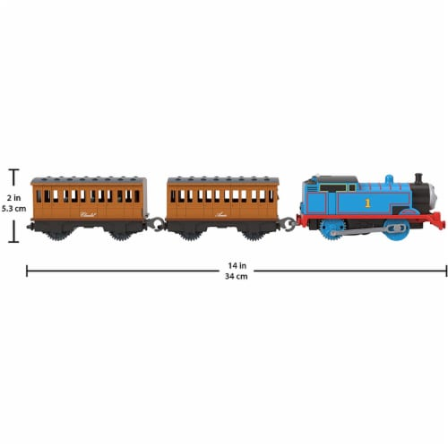 Thomas & Friends Fisher-Price Thomas Annie & Clarabel Motorized Toy Train Perspective: back