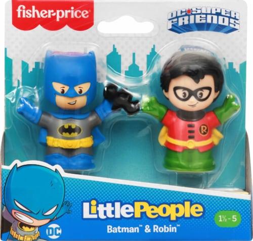 Fisher-Price® Little People DC Super Friends Batman & Robin Figures Perspective: back
