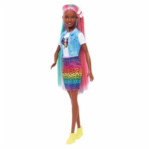 Mattel Barbie® Leopard Rainbow Hair Doll Perspective: back