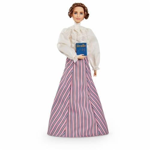 Mattel Barbie® Inspiring Women Helen Keller Doll Perspective: back