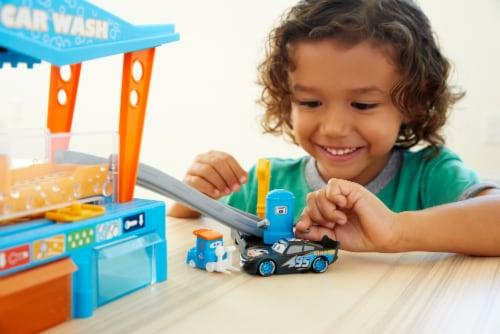 Mattel Disney Pixar Cars Color Change Dinoco Car Wash Playset Perspective: back