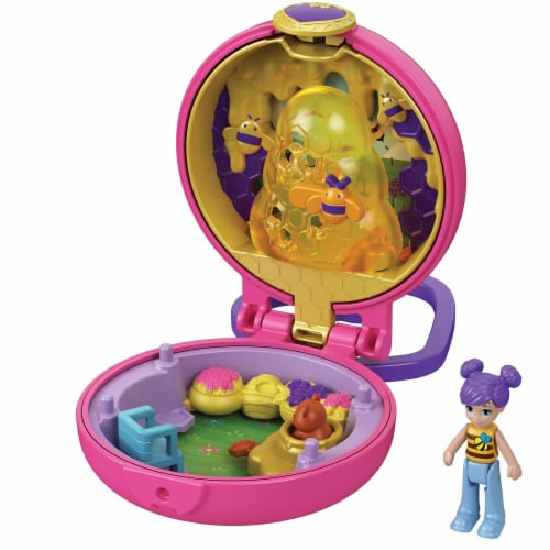 Polly Pocket Tiny Compact, Bumble Bee Perspective: back