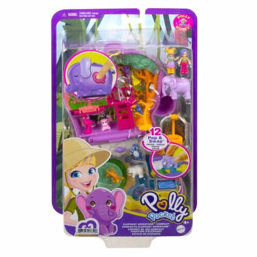 Mattel® Polly Pocket™ Elephant Adventure Compact Playset Perspective: back